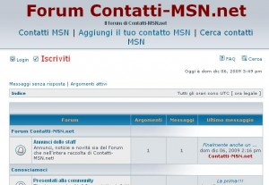 forum-contatti-msn